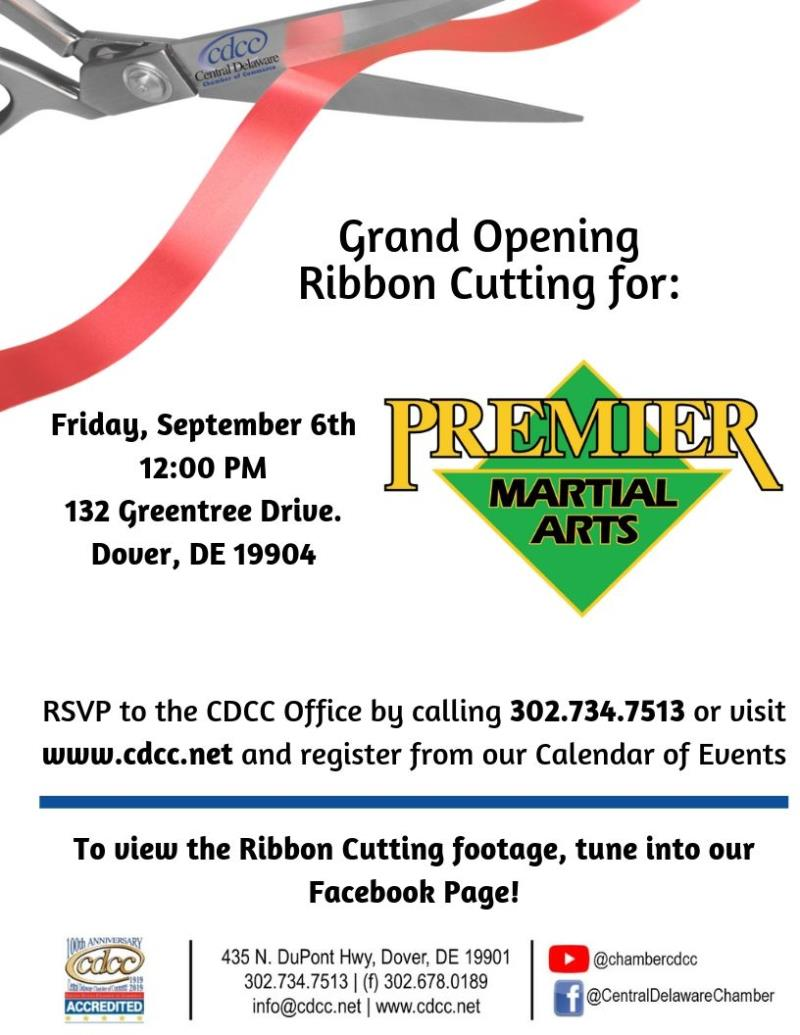 Ribbon Cutting - Premier Martial Arts
